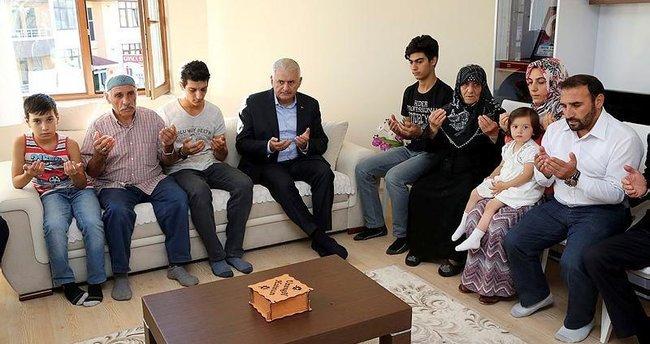 Başbakan Yıldırım şehit ailelerini ziyaret etti