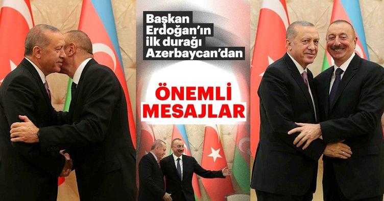 Cumhurbaşkanı Erdoğan ve İlham Aliyev ortak basın toplantısı düzenledi