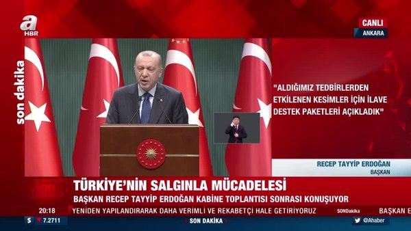 SON DAKİKA: Koronavirüs kısıtlamaları normalleşme takvimi belli oldu! Cumhurbaşkanı Erdoğan canlı yayında açıkladı