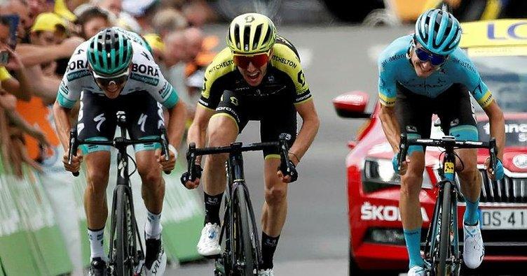 Fransa Bisiklet Turu'nda 12. etabın galibi Simon Yates