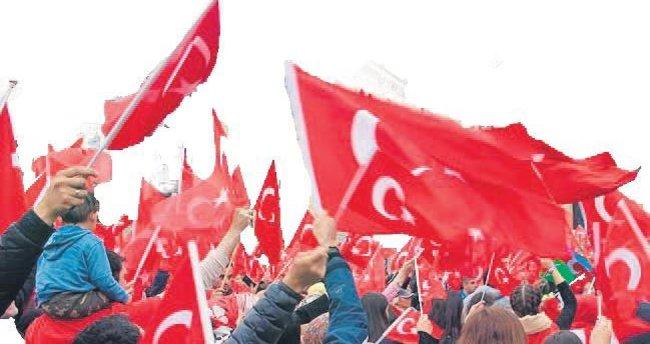 Avrupalı Türkler teröre lanet için meydanlarda
