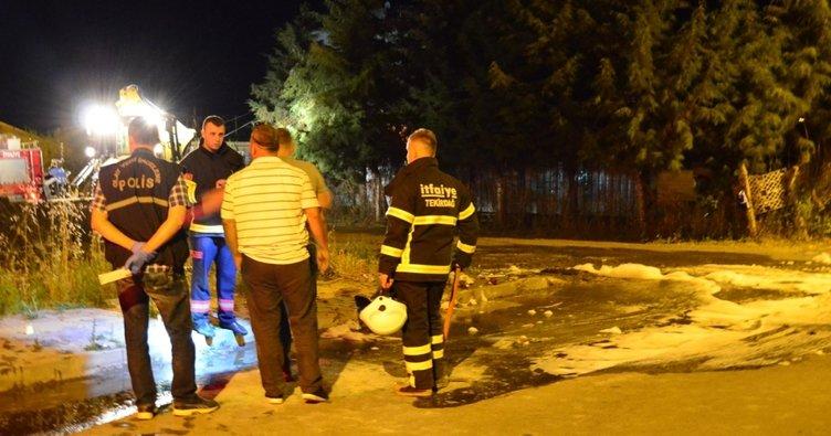 Çöpte patlama mahalleliyi sokağa döktü