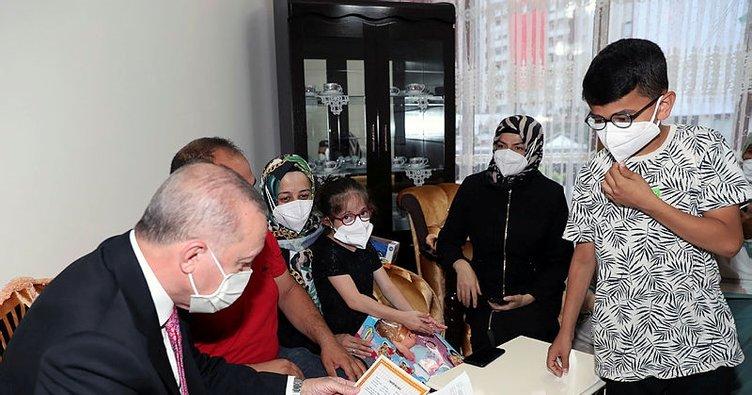 Başkan Erdoğan, Sincan'da yaşayan Mustafa Ürün ve ailesini ziyaret etti