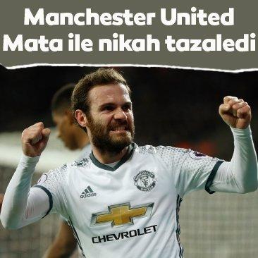Juan Mata, Manchester United ile nikah tazeledi