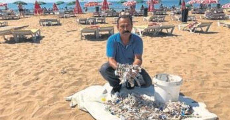 Sahilde izmarit kirliliği isyanı
