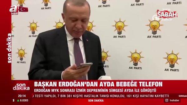 Başkan Erdoğan, İzmir depreminin simgelerinden olan 3 yaşındaki Ayda bebek ile telefonda görüştü