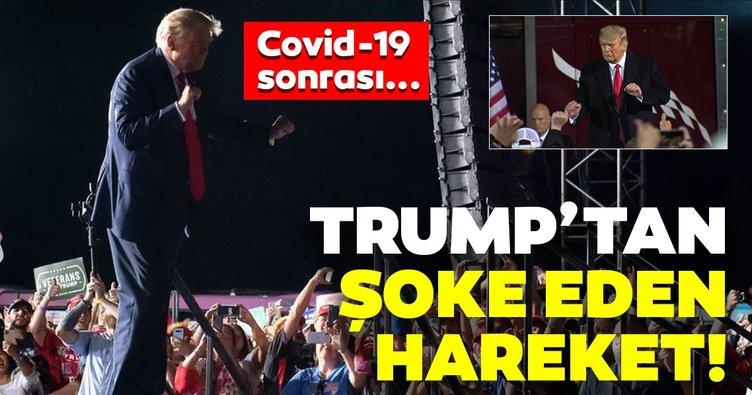 Son dakika haberi: Covid-19 tedavisinden sonra Trump'tan şaşırtan görüntüler! Binlerce kişinin önünde dans etti