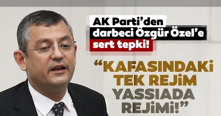 AK Parti sözcüsü Çelik'ten Özgür Özel yorumu: Seçilmiş hükümeti rejim olarak suçlamak Yassıada zihniyetinin işidir!