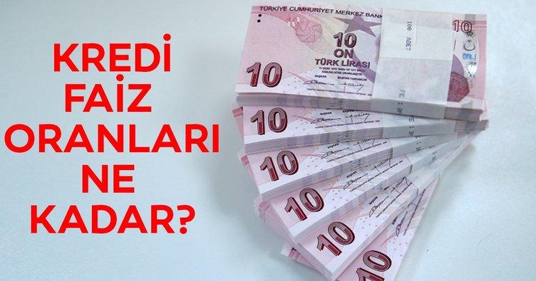Kredi faiz oranları ne kadar? 2019 Ziraat Bankası, Garanti Bankası, Halkbank kredi faiz oranları...