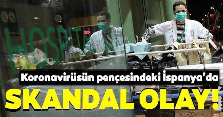 Corona virüsün pençesindeki İspanya'da skandal olay!