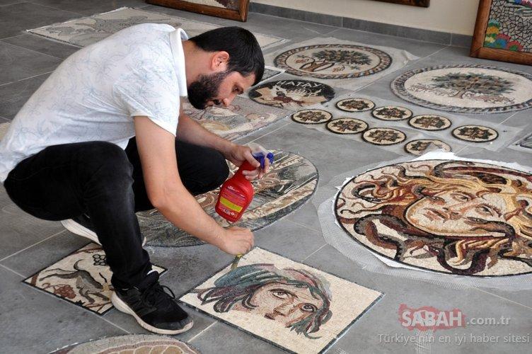 Hatay'daki mozaik sanatını dünyaya tanıtıyor