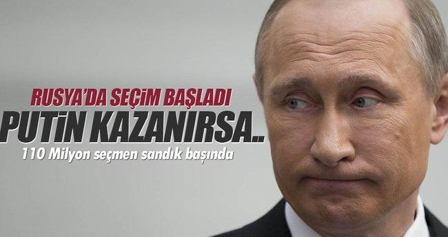 Rusya'da seçim başladı! 110 Milyon seçmen sandık başında