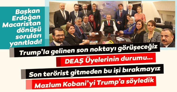Son Dakika: Başkan Erdoğan, Macaristan dönüşü gazetecilerin sorularını yanıtladı!