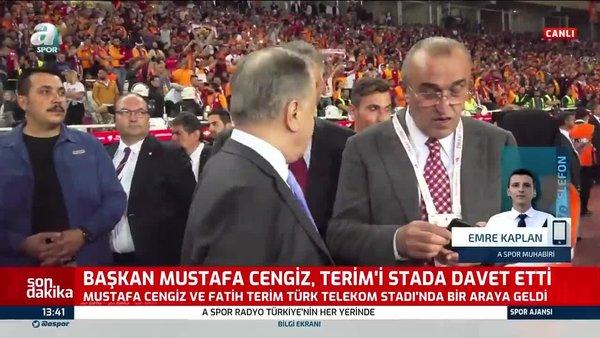 Galatasaray Başkanı Mustafa Cengiz'le Galatasaray Teknik Direktörü Terim'in toplantısından flaş detaylar   Video