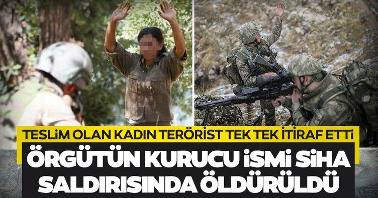 Son dakika: Teslim olan kadın teröristten ibretlik itirafları! PKK'nın kurucu ismi SİHA saldırısında öldürüldü