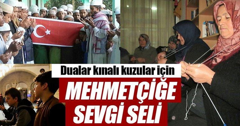 Mehmetçiğe sevgi seli