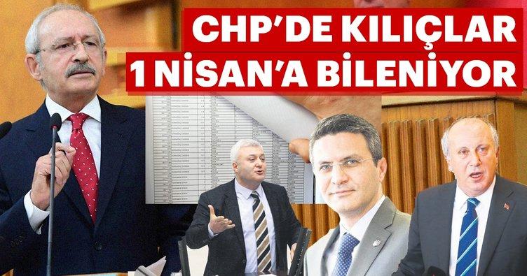 CHP'de kılıçlar 1 Nisan'a bileniyor