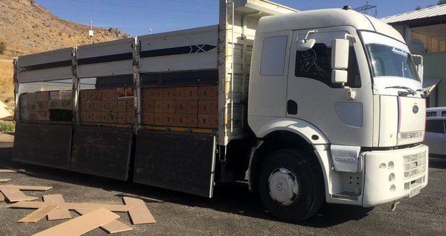 Bitlis'te 3 günde 102 bin 660 paket kaçak sigara ele geçirildi