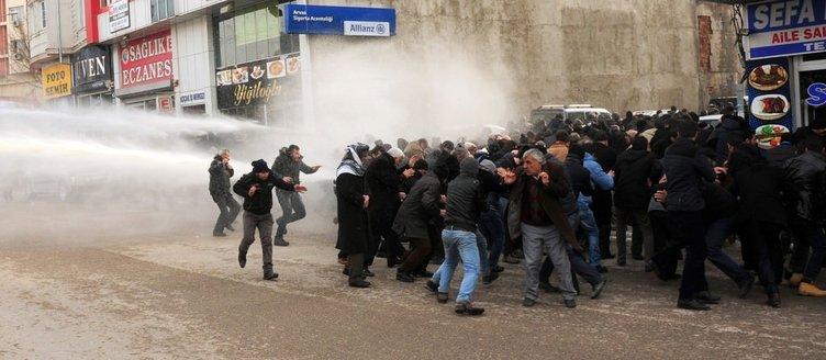 Van'da izinsiz gösteriye müdahale edildi!