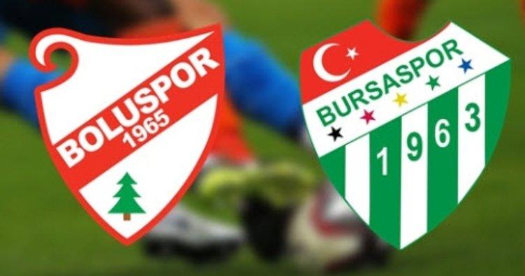 Boluspor ile Bursaspor karşılaşıyor! Maçın canlı anlatımı için tıklayın
