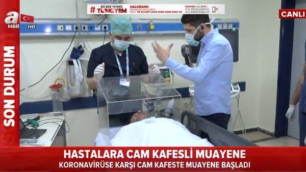 Corona virüsüne karşı hastaların sokulacağı cam kafes canlı yayında ilk kez böyle görüntülendi   Video