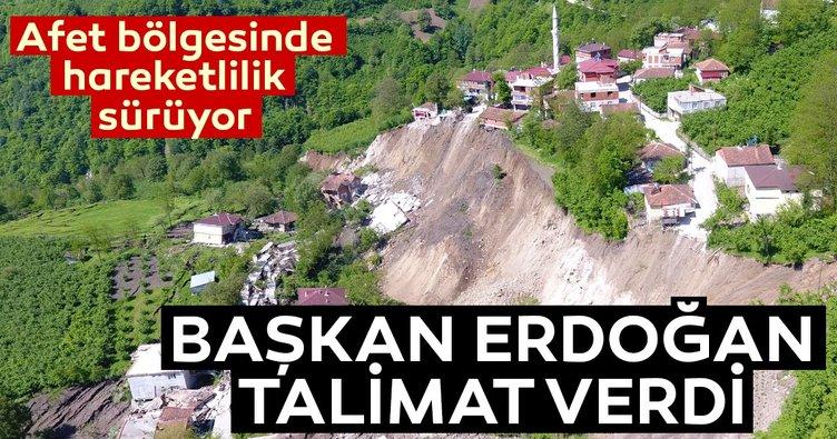 Cumhurbaşkanı Erdoğan Ordu'daki heyelan hakkında Vali Seddar Yavuz'dan bilgi aldı