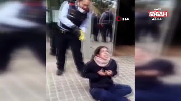 İspanya'da kadına polis şiddeti | Video