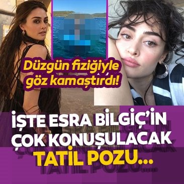 Ramo'nun yıldızı Esra Bilgiç bikinisiyle yaktı geçti… Tatil pozu sosyal medyayı salladı