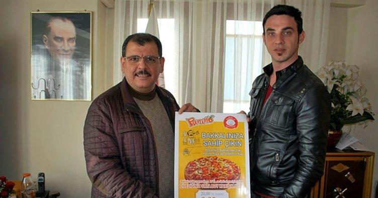 Bakkaldan alışveriş yapana indirimli pizza