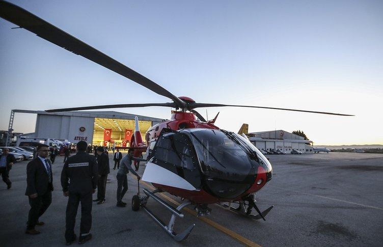 İşte gece görüşlü ambulans helikopterimiz