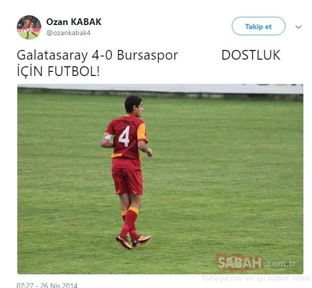 Ozan Kabak'ın sosyal medyayı sallayan Selçuk Şahin tweeti!