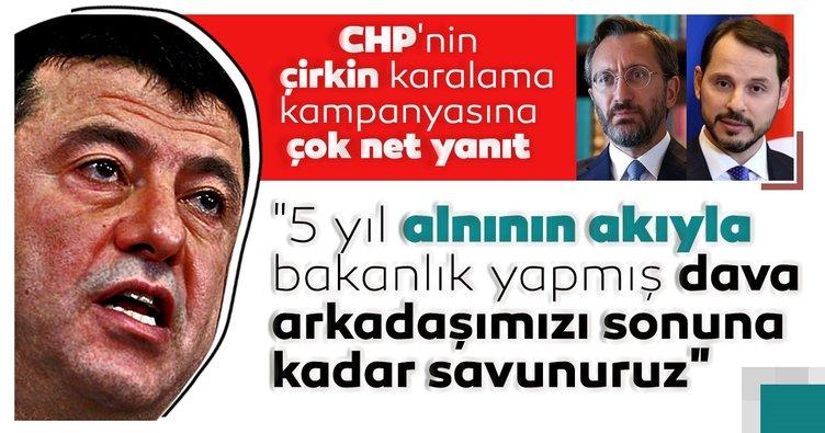 İletişim Başkanı Altun'dan, CHP'nin Berat Albayrak'a yönelik çirkin karalama kampanyasına çok net yanıt