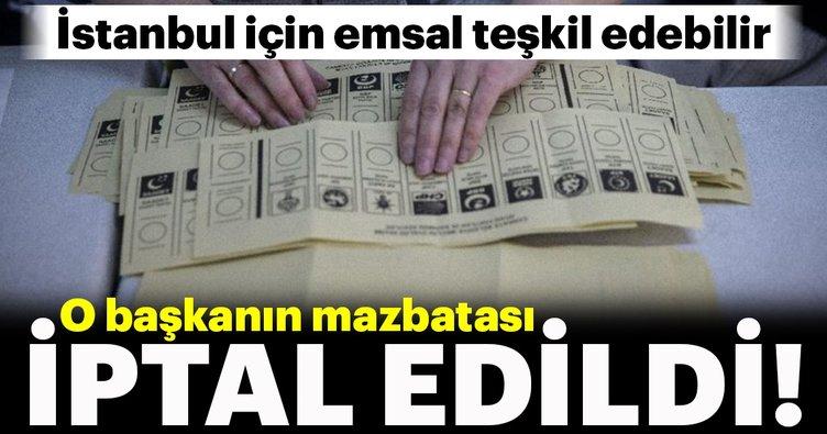 YSK İYİ Partili Başkan'ın mazbatasını iptal etti!