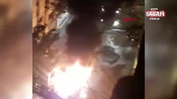 Diyarbakır'da Bağlar Belediyesine ait hizmet aracı yakıldı | Video