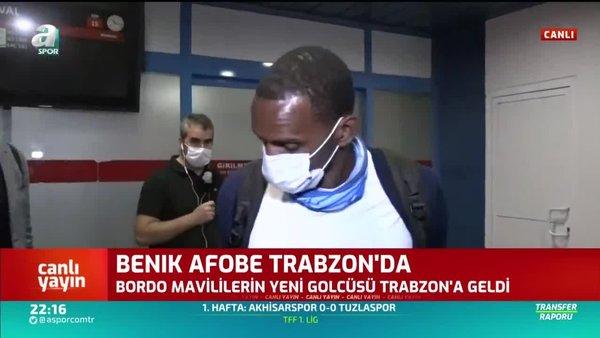 Trabzonspor'un Stoke City'den transferi Afobe Trabzon'a geldi