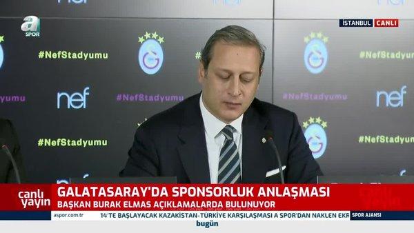 Galatasaray'ın yeni stat sponsoru Nef oldu! Tarihi imza atıldı