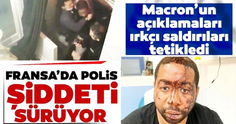 Macron'un ırkçı açıklamaları ülkeyi yangın yerine çevirdi! Polis faşizmi giderek artıyor