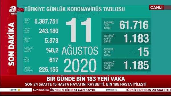 Son dakika! 11 Ağustos koronavirüs rakamları açıklandı. Bakan Koca o illeri açıkladı! | Video