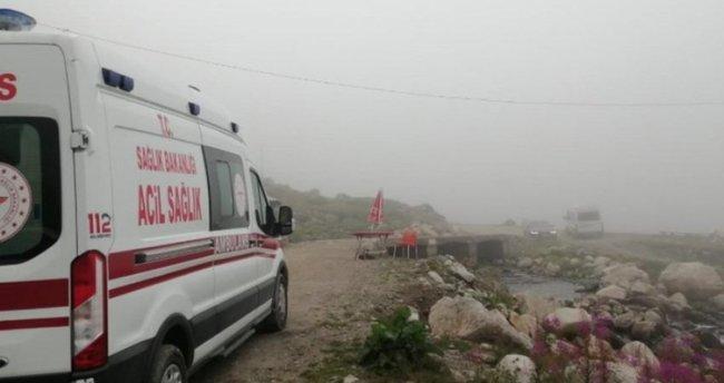 Kaçkar dağlarına tırmanan 2 Ukraynalı dağcı kayalıklara düştü