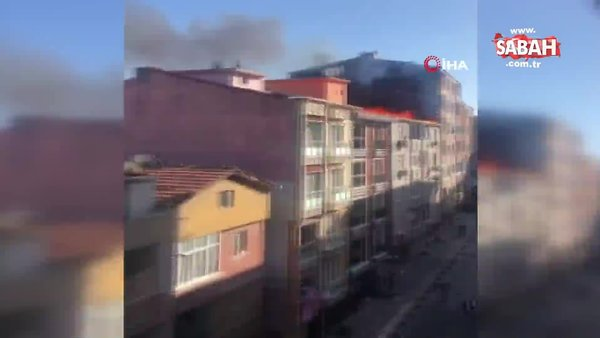 Son dakika! İstanbul Esenler'de korkutan yangın | Video