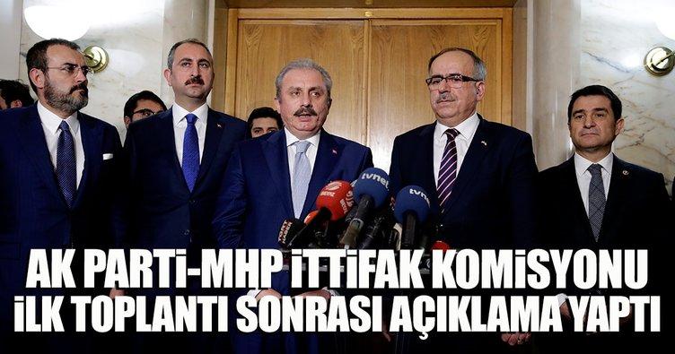 AK Parti-MHP ittifak komisyonu üyelerinin görüşmesi sonrası açıklama yapıldı