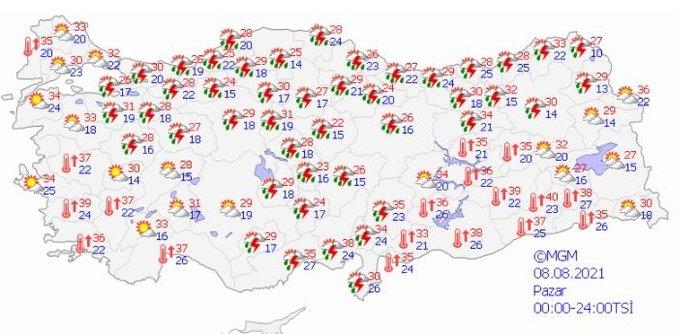 Bugün ve hafta sonu hava nasıl olacak? Yangın bölgesinde yağmur yağacak mı? İşte Muğla, Antalya, Akdeniz, Adana, İstanbul hava durumu 14