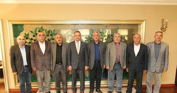 Cemevi Başkanları Köşker'i ziyaret etti