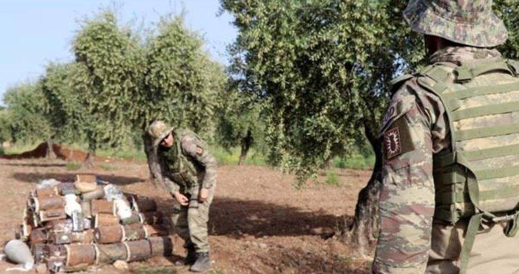 Mehmetçik Afrin'de hainlerin tuzakladığı bombaları...