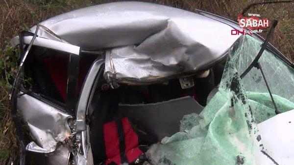 İstanbul Sarıyer'de otomobil ile kamyon kafa kafaya çarpıştı! 1 ölü 1 yaralı| Video