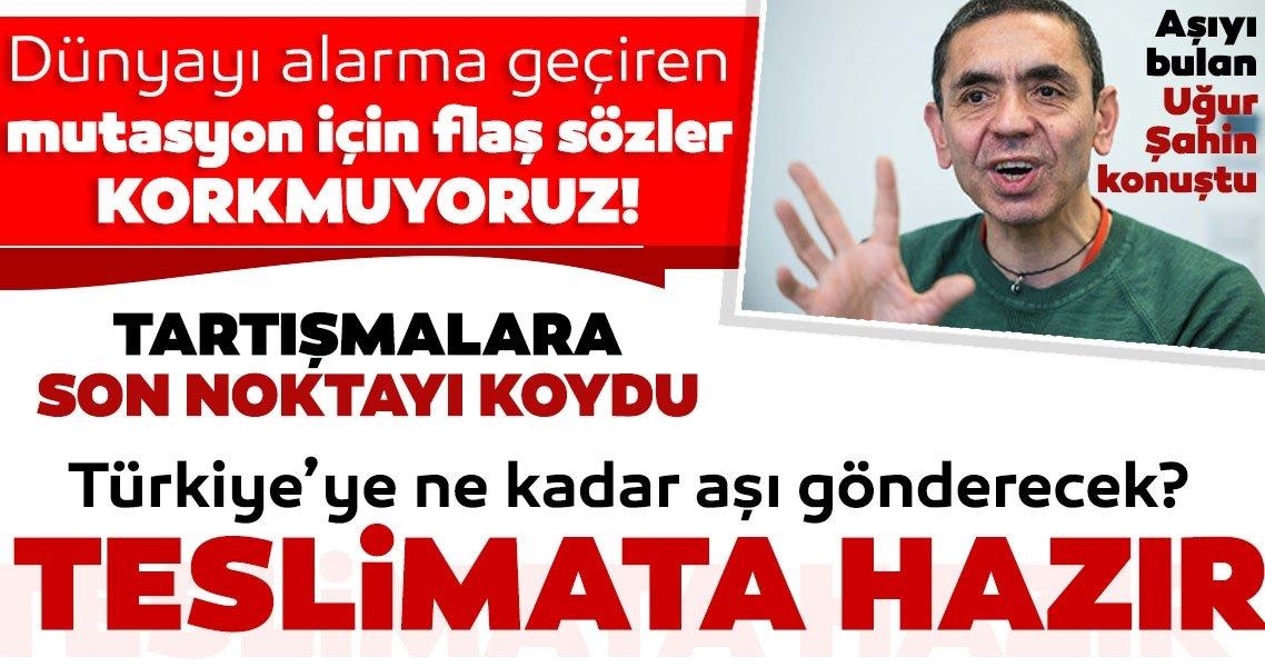 SON DAKİKA HABERİ: BionTech Türkiye'ye ne kadar corona virüsü aşısı gönderecek? Uğur Şahin konuştu: Teslimat yapılabilir...