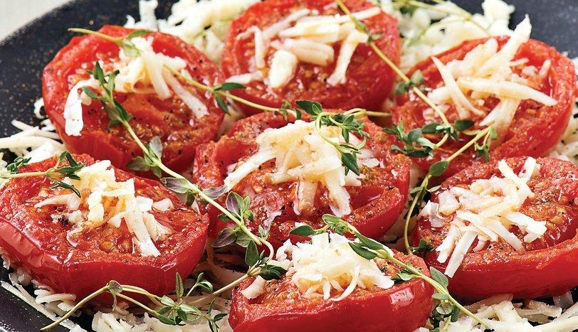 Peynirli domates kızartması
