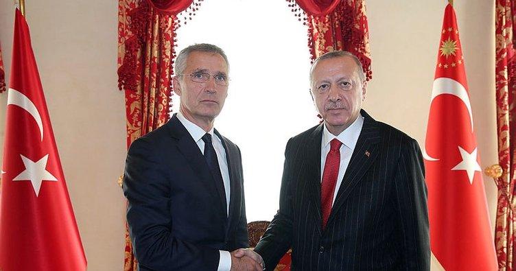 Cumhurbaşkanı Erdoğan, Stoltenberg'i kabul ediyor