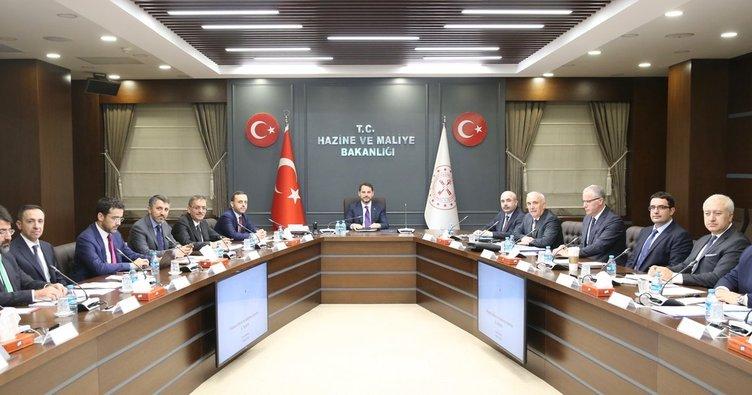 Finansal İstikrar ve Kalkınma Komitesi Bakan Berat Albayrak liderliğinde toplandı