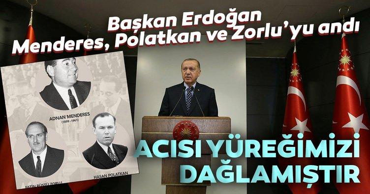 Başkan Erdoğan Menderes'in idam yıldönümü nedeniyle mesaj yayımladı: